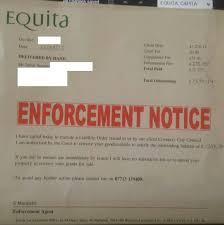 Equita bailiff letter